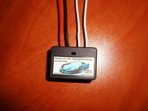 Picture of DRL MINI TIMER SWITCH TIME RELAY 1 TO 16 SEC KIT 12V / 12A Delay ON CAR DAYLIGHTS